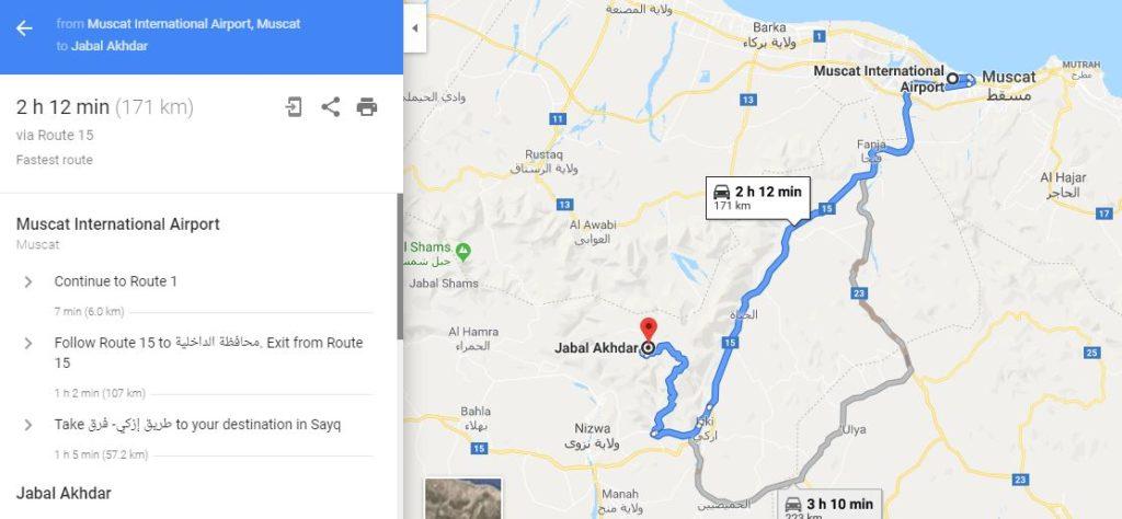 Guide: Driving from Muscat to Jabal Akhdar - Jabal Akhdar Oman